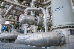 Heat exchanger with pipeline Stock Image