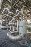 Heat exchanger with pipeline Royalty Free Stock Photo
