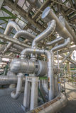 Heat exchanger with pipeline Stock Photos