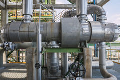 Heat exchanger in refinery plant Royalty Free Stock Images