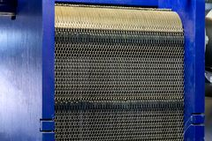 Heat Exchanger in system of hot water supply in industrial boile royalty free stock image