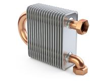 Heat exchanger with tubes for connection of Industrial cooling u Royalty Free Stock Images