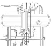 Heat exchanger on white Stock Photo