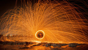 Heat. Fireshow flame hot light rotation Royalty Free Stock Photography