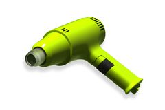 Heat gun. Electric heat gun in isolated  background Royalty Free Stock Photos