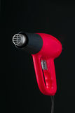 Heat gun on black background Royalty Free Stock Images