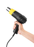 Heat gun in hand Royalty Free Stock Image