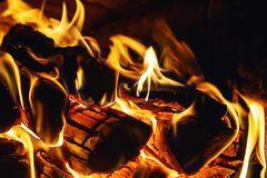 Heat in the house. The shield of the home hearth stock photo