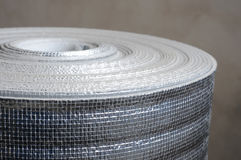 Heat insulation. Material in roll Royalty Free Stock Photos
