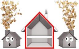 Heat insulation. 3D illustration of an heat insulation Royalty Free Stock Photos