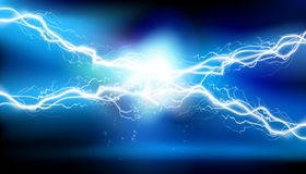 Heat lighting. Electrical energy. Vector illustration. Royalty Free Stock Photography