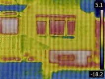 Heat Loss Detection Stock Photography