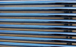 Heat pipe solar water heater Stock Images