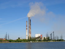 Heat and power plant Royalty Free Stock Photography
