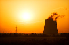 Heat and power plant Royalty Free Stock Photo