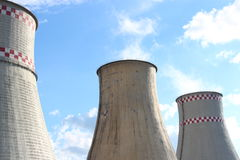 Heat and Power Plant. (heat-electric generation station Stock Image