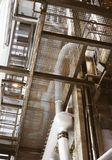 Heat power plant. Industrial interior of old heat power plant Royalty Free Stock Images