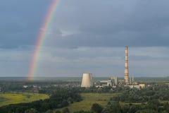 Heat power plant Royalty Free Stock Photos