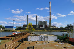 Coal-fired heat and power station Royalty Free Stock Photo
