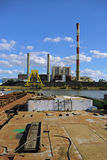 Coal-fired heat and power station. Stock Photo