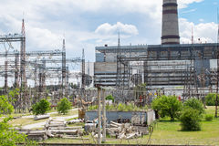 Heat power station Royalty Free Stock Photography