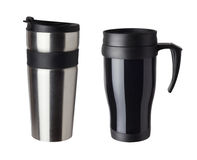 Heat protection-thermos coffee cup Stock Photos