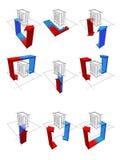 Heat pump diagrams Royalty Free Stock Image