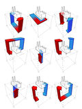 Heat pump diagrams Royalty Free Stock Photos