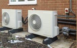 Free Heat Pump Installation On A Modern House Stock Photo - 210135890