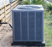 Heat Pump Unit. A heat pump used to provide air conditioning and heating in warmer climates Stock Image
