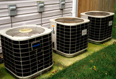 Heat Pumps and Air Conditioners Royalty Free Stock Photos
