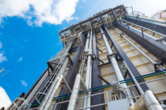 Heat recovery steam gas or boiler of combine cycle power plant. Against blue sky stock photography