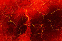 Heat red cracked ground texture. Royalty Free Stock Image