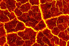 Heat red cracked ground texture. Royalty Free Stock Photography