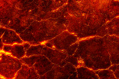 Heat red cracked ground texture Royalty Free Stock Images