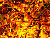 Heat relief transparent windows fire backgrounds Stock Image