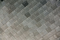 Heat resistant tiles on outside of  Space Shuttle. Heat resistant tiles on outside of nose of Space Shuttle, Florida Stock Photos