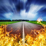 Heat road Royalty Free Stock Images