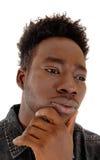 Heat shot of black man. Royalty Free Stock Photos