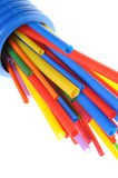 Heat shrink tubing components for cables isolation Stock Photos