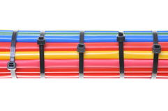 Heat shrink tubing components for cables isolation Stock Image