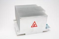 Heat Sink. Aluminum computer heat sink Royalty Free Stock Photos