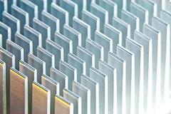 Heat sink. This is a north bridge heat sink photographed with a macro setup Royalty Free Stock Image