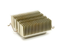 Heat Sink. An isolated close up of a computer chip heat sink Stock Image