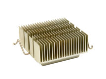 Heat Sink. An isolated close up of a computer chip heat sink Stock Photo