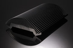 Heat Sink. And black background Stock Photo