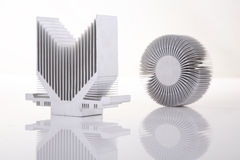 Heat Sink. Two isolated , white background Royalty Free Stock Photography
