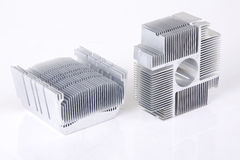 Heat Sink. Black and white,Silver Stock Images