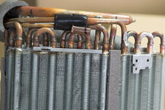 Heat sink of the air conditioner Royalty Free Stock Photos