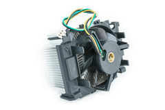 Heat-sink of cpu in isometric. Heat-sink of cpu  in isometric bottom view Royalty Free Stock Photo
